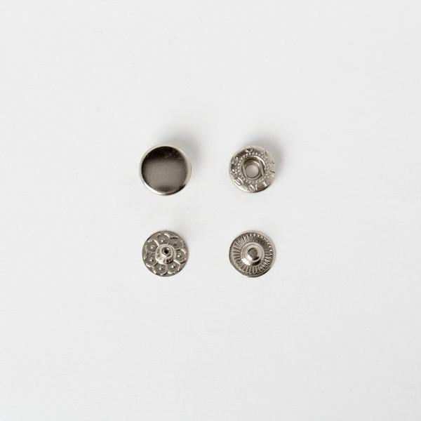 純銅四合釦 鎳白色 12mm 5組