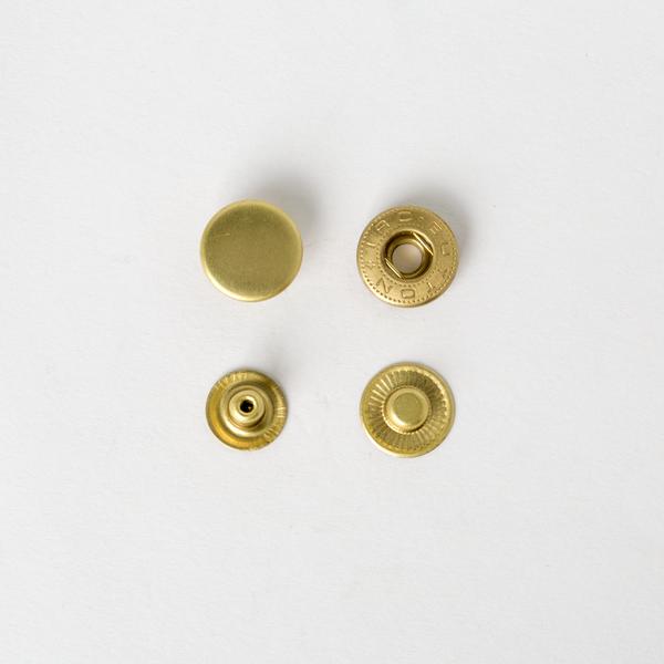 純銅四合釦 黃銅色 15mm 4組