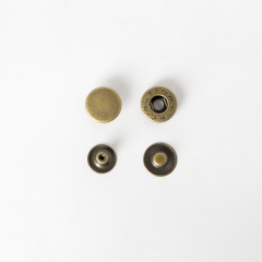 純銅四合釦 古銅色 15mm 4組