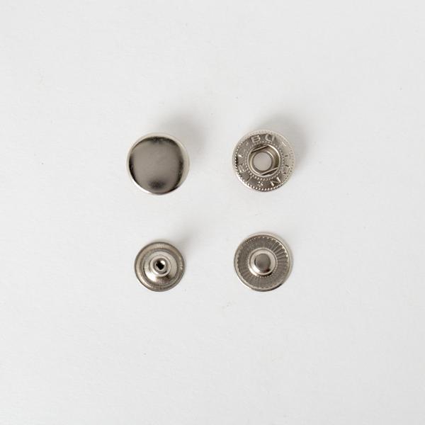 純銅四合釦 鎳白色 15mm 4組