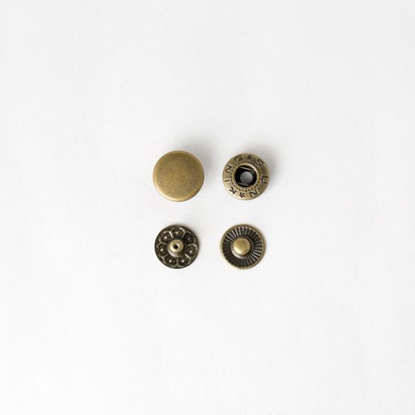 四合釦 古銅色 10mm 100+-5%組 不折扣