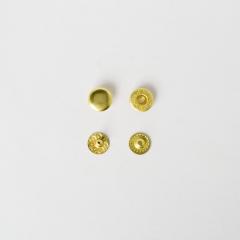 純銅四合釦 黃銅色 10mm 50+-5%組 不折扣
