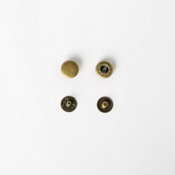 純銅四合釦 古銅色 10mm 50+-5%組 不折扣