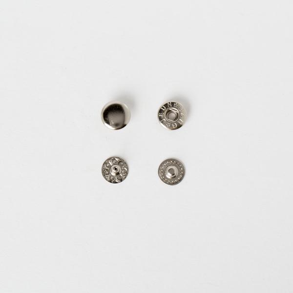 純銅四合釦 鎳白色 10mm 50+-5%組 不折扣