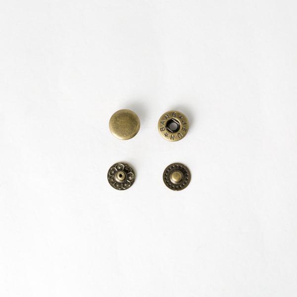 四合釦 古銅色 12mm 100+-5%組 不折扣