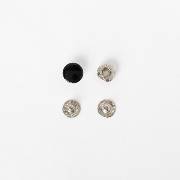 四合釦 洘漆黑色 12mm 100+-5%組 不折扣