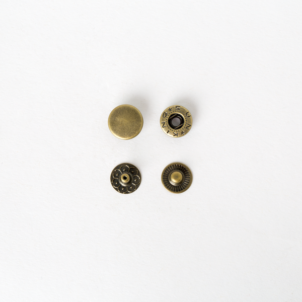 純銅四合釦 古銅色 12mm 50+-5%組 不折扣