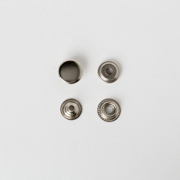 四合釦 鎳白色 15mm 50+-5%組 不折扣