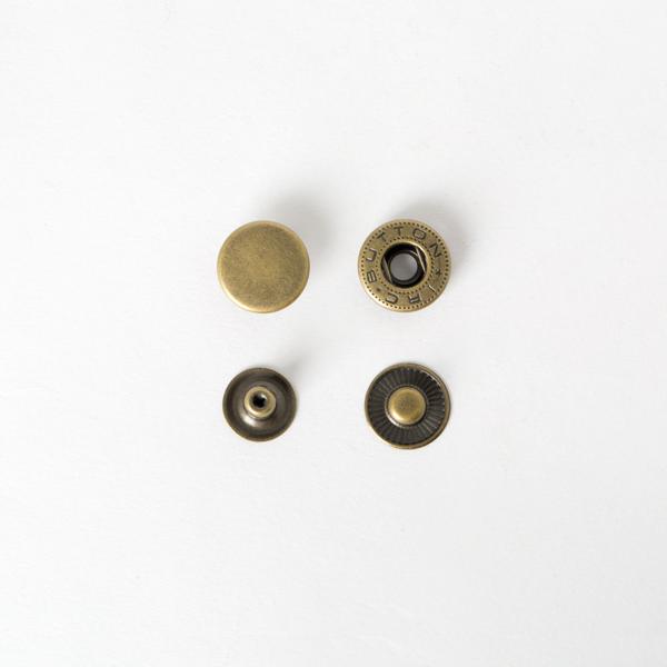 純銅四合釦 古銅色 15mm 50+-5%組 不折扣