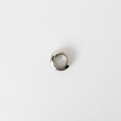 銅製雙面環釦 鎳白色 15mm 內徑7mm 2組