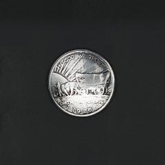 鑄幣飾釦 馬篷車 30mm 不二價