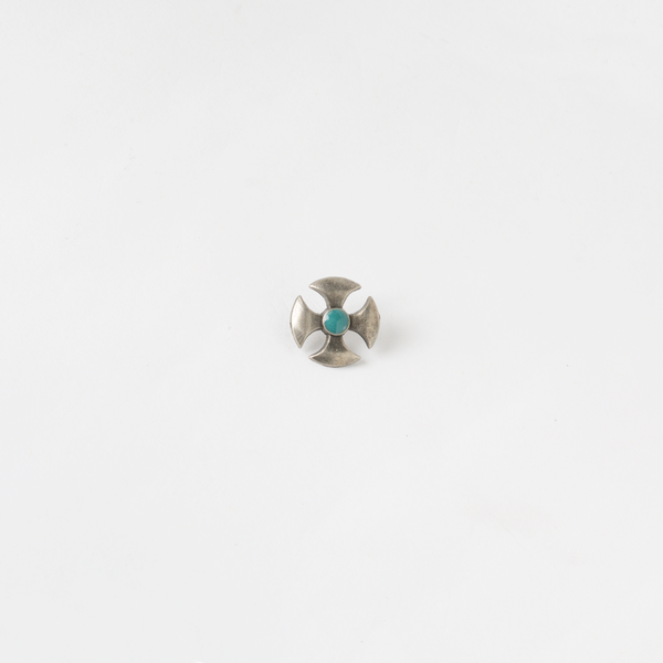 裝飾古銀釦 十字藍色