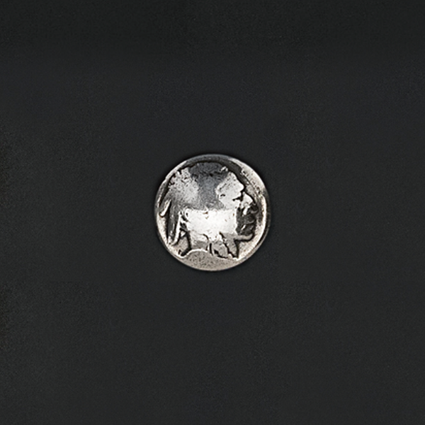 真幣飾釦 印地安頭 20mm