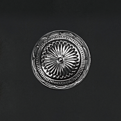 日本趣味飾釦 銀色 40mm 不二價