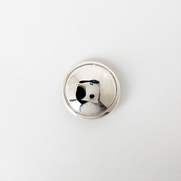 手雕宇宙鉻色飾釦 純銀925 30mm