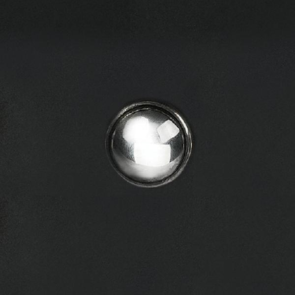 手雕宇宙鉻色飾釦 純銀925 21mm