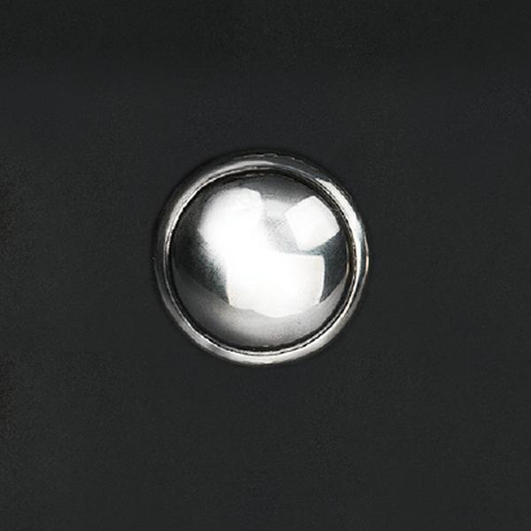 手雕宇宙十字架鉻色飾釦 純銀925 21mmx5g