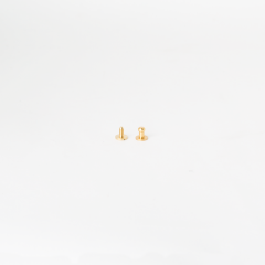 純銅原子釦 黃銅色 4.5mm 2組