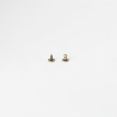 Solid Brass Button Stud Brass 4.5mm 2 Set