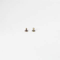 純銅原子釦 古銅色4.5mm 2組