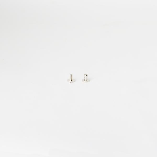 純銅原子釦 鎳白色 4.5mm 2組