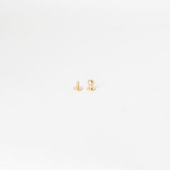 純銅原子釦 黃銅色 7mm 2組