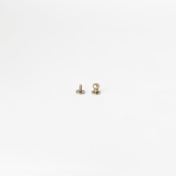純銅原子釦 古銅色 7mm 2組