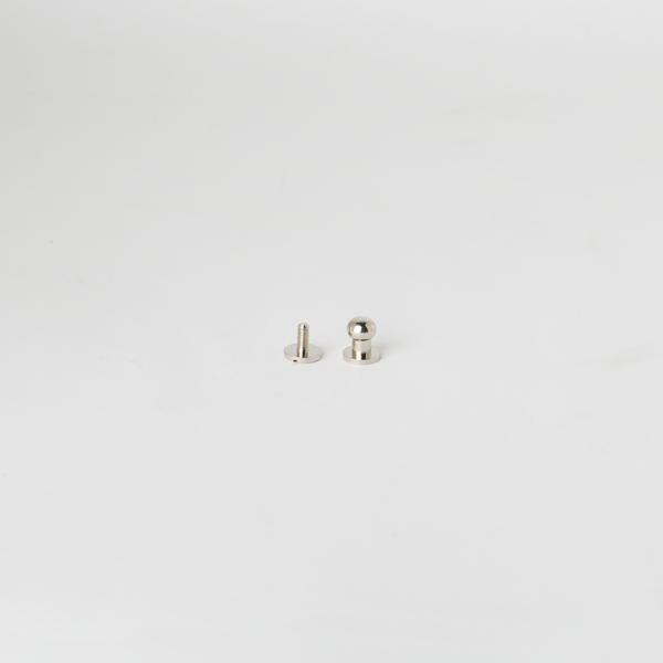 純銅原子釦 鎳白色 7mm 2組