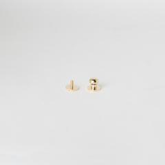 純銅原子釦 金色 10mm 1組
