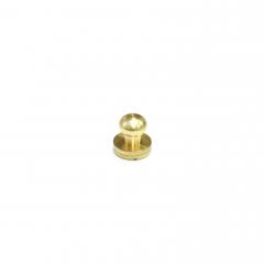 純銅原子釦 黃銅本色 10mm 1組