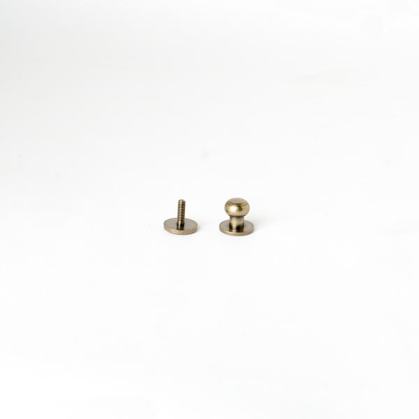 純銅原子釦 古銅色 10mm 1組