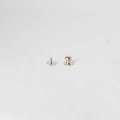 純銅原子釦 鎳白色 10mm 1組