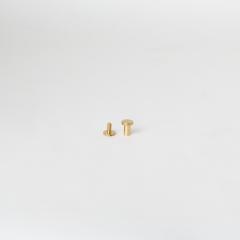 平面螺絲釦 黃銅色 8mm 2組