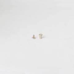 平面螺絲釦 鎳白色 8mm 2組