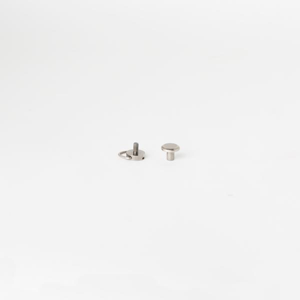 D型平面螺絲釦 鎳白色 10mm 2組