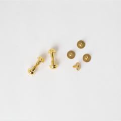 銅製圓螺絲釦 金色 8mm 4入(售完為止)
