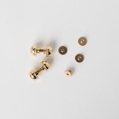銅製圓螺絲釦 金色 10mm 4入