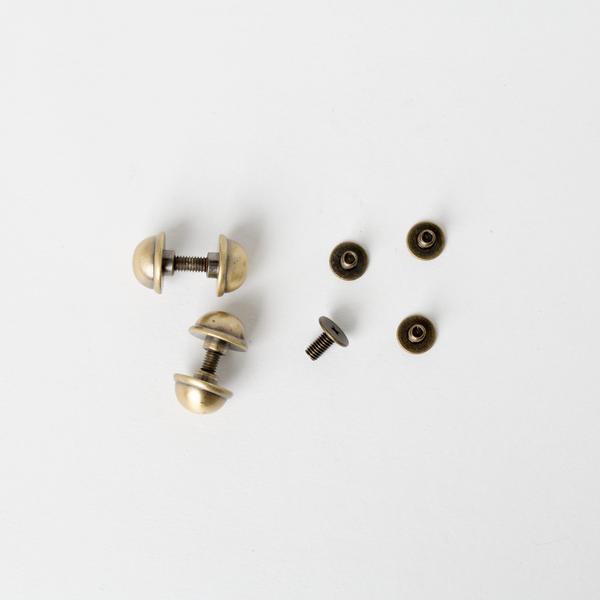 銅製圓螺絲釦 古銅色 10mm 4入