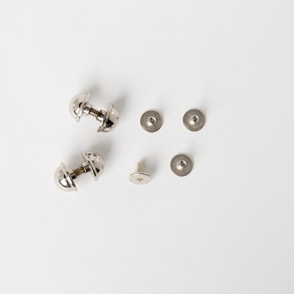 銅製圓螺絲釦 鎳白色 10mm 4入