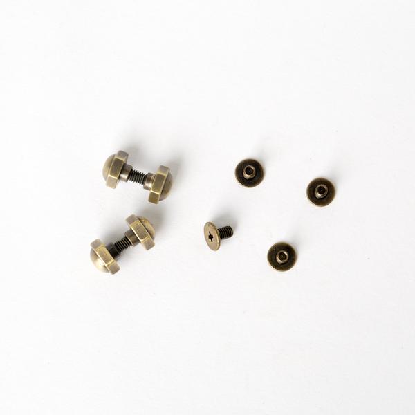 銅製六角螺絲釦 古銅色 8mm 4入
