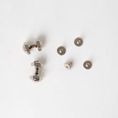 銅製六角螺絲釦 鎳白色 10mm 4入
