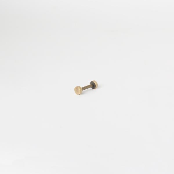 銅製螺絲釦 青古銅色 8*17mm 2組