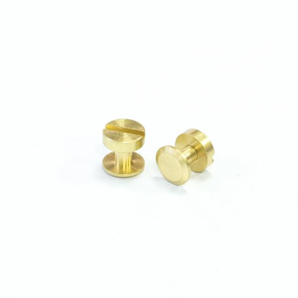 銅製平面螺絲釦 黃銅色 10X6mm 2組