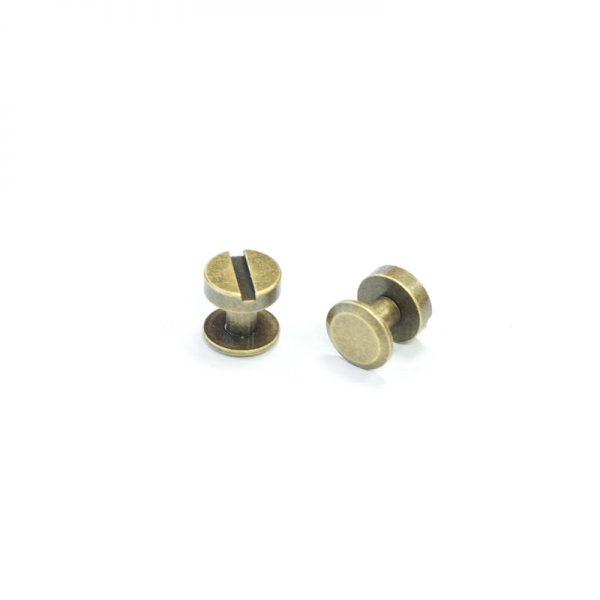 銅製平面螺絲釦 古銅色 10X6mm 2組