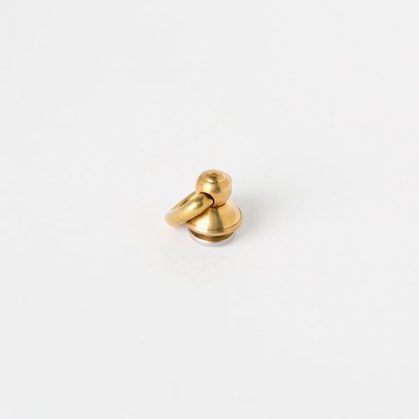 進口鉻色飾螺絲吊耳轉釦 黃銅色 圓座9mm
