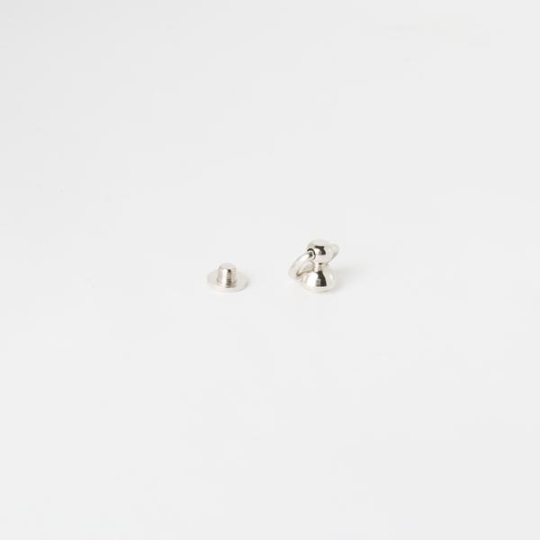 螺絲吊耳 鎳白色 圓座9mm 不二價