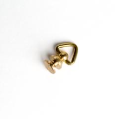 純銅螺絲吊耳 黃銅本色 圓座12mm2入
