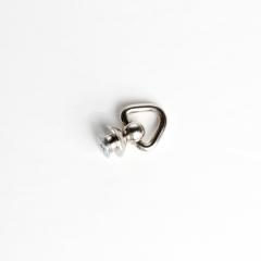 純銅螺絲吊耳 鎳白色 圓座12mm 2入