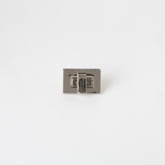 方型轉釦 銀色 27x17mm