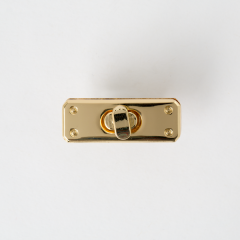 長型轉釦 金色 42x15mm